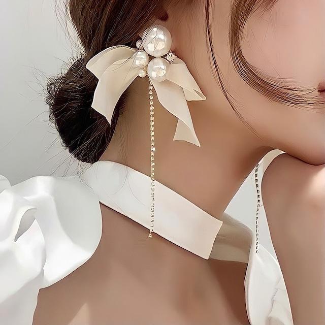 flare ribbon earring