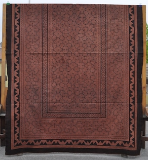 ベッドカバー 24 超特大 225x150cm AAAA アマゾン シピボ族の泥染め 紫