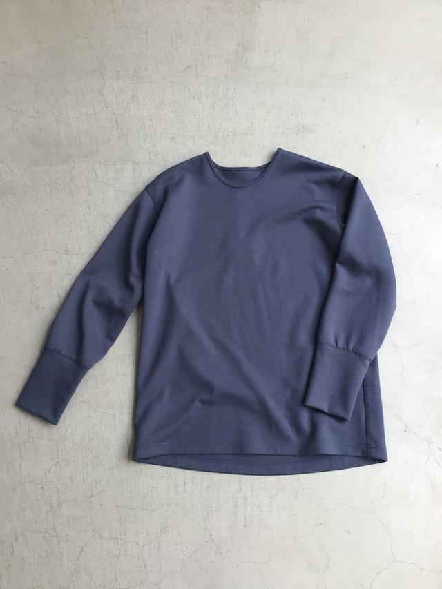 ippei takei【イッペイタケイ】rib long T shirts ink blue/neon yellow/strawberry