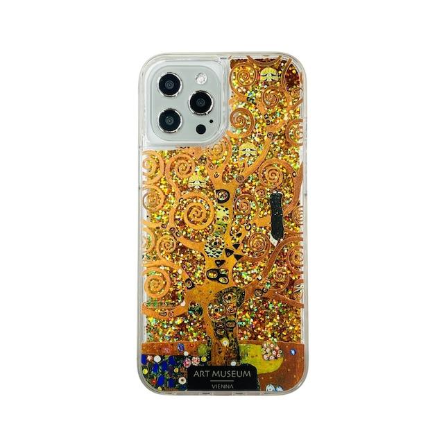 ARTiFY iPhone 12 Pro Max グリッターケース クリムト 生命の樹 ゴールド AJ00626