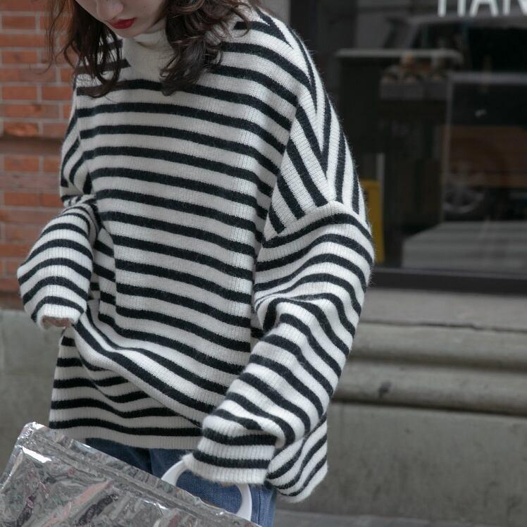 Border sweater(ボーダーセーター)a-936