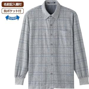 紳士 ワンタッチテ-プ起毛ニットシャツ