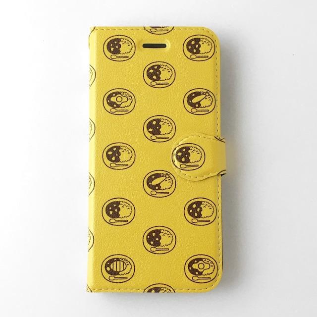LACICO カレーライス 手帳型 iPhoneケース (ターメリック) 送料無料 ラッピング無料