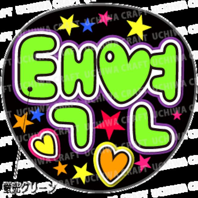 【蛍光プリントシール】【2PM/テギョン】『택연』 K-POPのコンサートやツアーに!手作り応援うちわでファンサをもらおう!!!