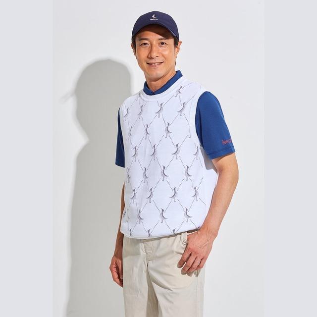 Tee-chi メンズニットベスト <DSモノグラム><WHITE>