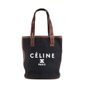 CELINE セリーヌ ロゴ キャンバス トートバッグ ブラック オールドセリーヌ vintage ヴィンテージ