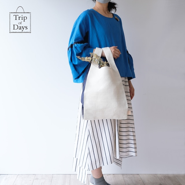 one mile bag   size L1   白 × 紺