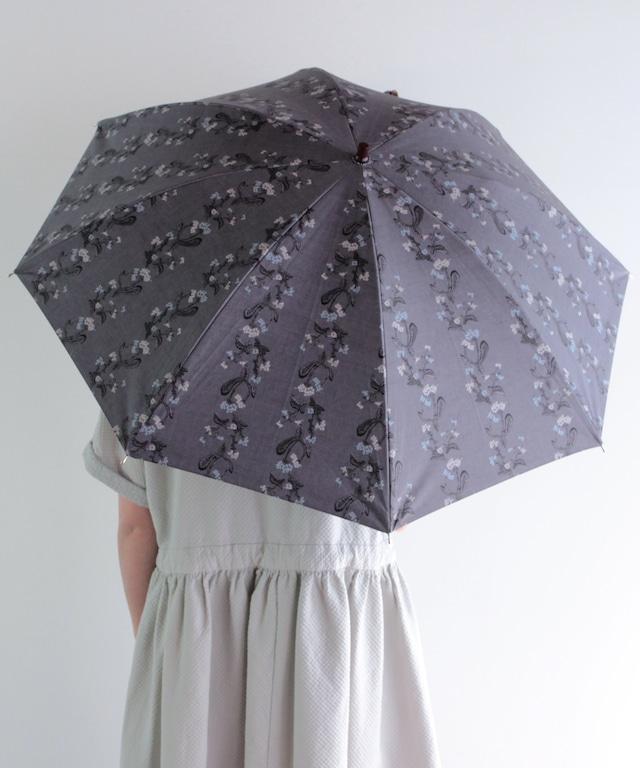 【ナズナ刺繍プリント】晴雨兼用日傘(ELS44 ネイビー・グリーン・ベージュ)