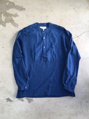DA'S,Customized/本藍染めしたグランパシャツ(無地)
