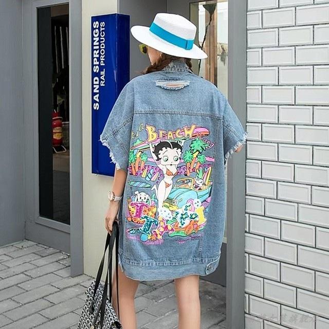 【SELECT】Betty Boopオーバーサイズデニムジャケット