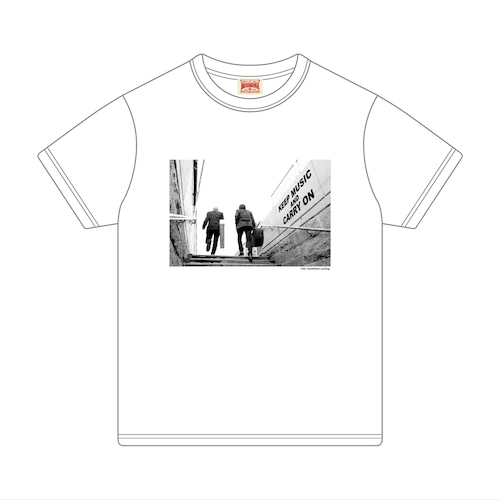 Tシャツ[KEEP MUSIC AND CARRY ON]WH