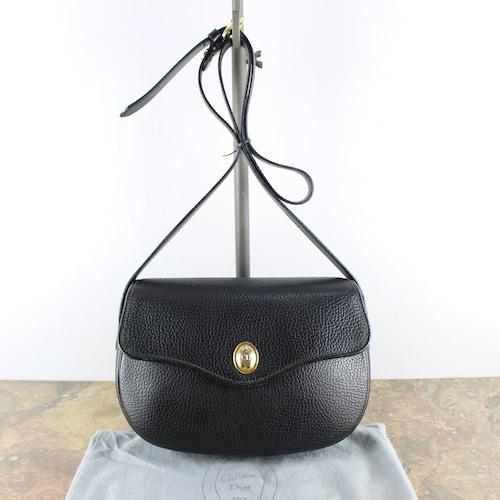 .Christian Dior LOGO LEATHER SHOULDER BAG MADE IN FRANCE/クリスチャンディオールロゴレザーショルダーバッグ2000000056197