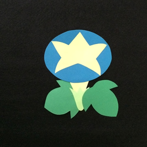 あさがお(青)の壁面装飾