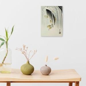 素敵なアートパネル A4サイズ 鯉の滝登り 小原古邨
