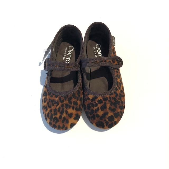cienta フォーマルストラップ バレエシューズ 17cm~20cm brown(leopard)