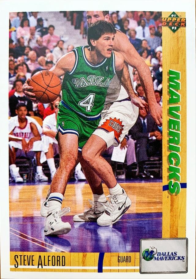 NBAカード 91-92UPPERDECK Steve Alford #250 MAVERICKS
