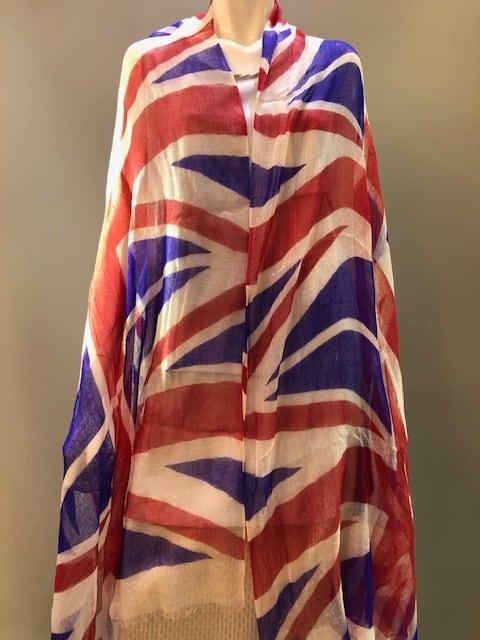 Me&Kashmere インド製 カシミヤプリントショール UK FLAG