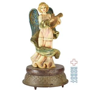 竪琴の天使 オルゴール フィギュア シューベルトのアヴェマリア