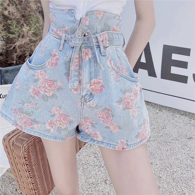 A line flower pants