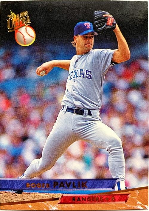 MLBカード 93FLEER Roger Pavlik #283 RANGERS