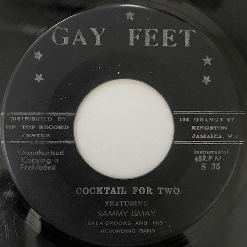 Sammy Ismay & Baba Brooks Band - Cocktail For Two【7-20729】
