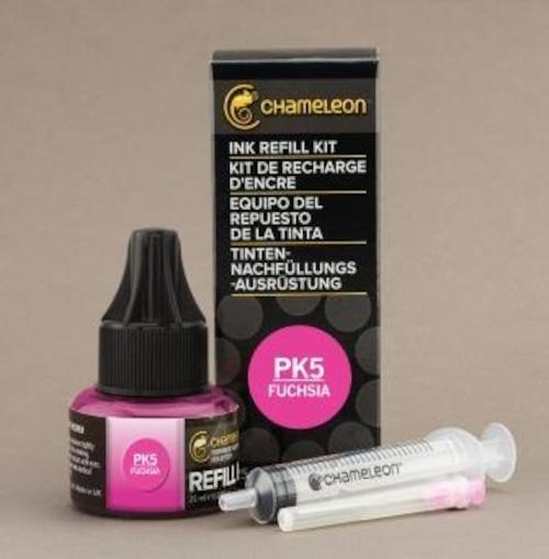 Chameleon Pen Ink Refill 25ml Fuchsia PK5 (カメレオンペン 詰替え用インク PK5)