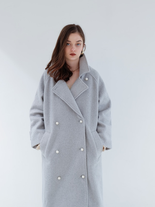 fluffy color coat(icy blue)