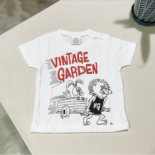 【SALE!】[キッズサイズ] VINTAGE GARDEN オリジナルキャラクターTシャツ(モノクロ:5001)