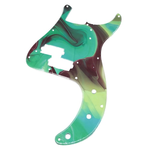 VARIOUS MARBLEIZED PICK GUARD SERIES - 50s P-type  Only One Design - ベース用マーブルピックガード ja4-2