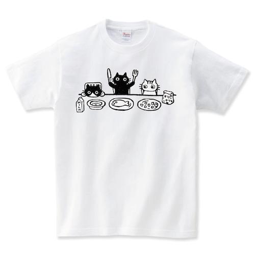 3匹の猫 Tシャツ メンズ レディース 半袖 大きいサイズ