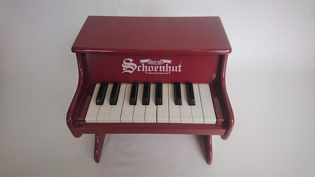 [中古]schoenhut トイピアノ 17鍵盤 臙脂色