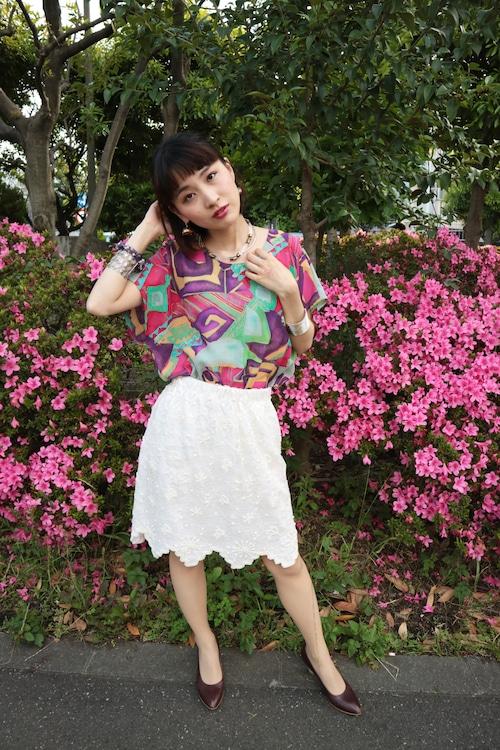 White bijou skirt