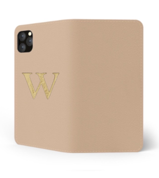 iPhone Premium Smooth Leather Case (Nude) : Book Cover