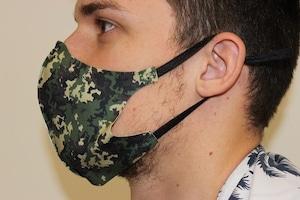 イタリア製スポーツマスク(撥水) カムフラージュグリーン フリーサイズ
