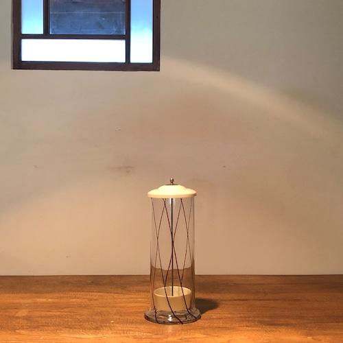 ガラスのストロー立て レトロ キッチンツール