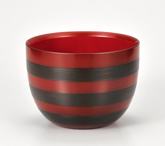 KE23-005 7.0大鉢 錆三本筋 古代朱