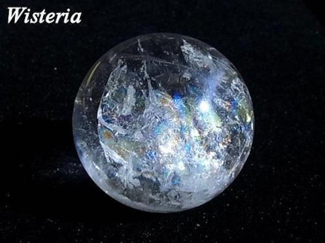 レインボー水晶 丸玉 02 直径36.7mm