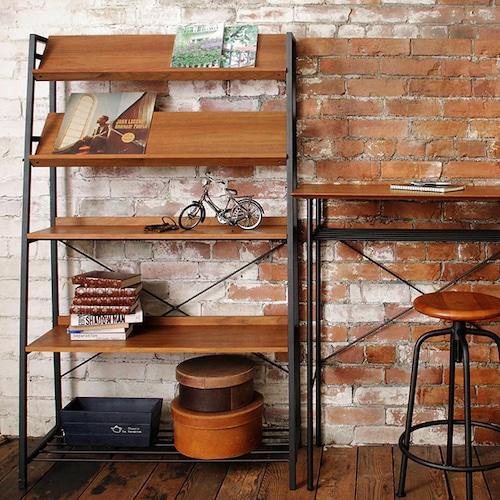 技ありディスプレイシェルフ。見せる収納「2way」タイプで、本や雑貨をショップやカフェ風に収納。