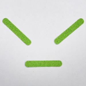 切り文字 A&Cペーパー パルプロックPBR‐006(グリーン) 粘着付 ローマ字「I」