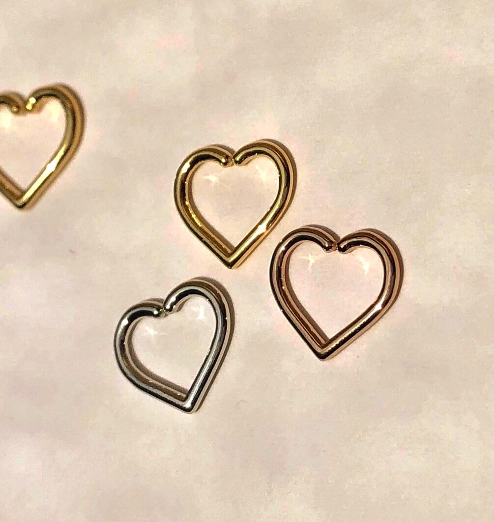 HEART Daith body jewelry S 16G/YG PG Pt #LJ19009P ハート ダイス Sサイズ ボディピアス
