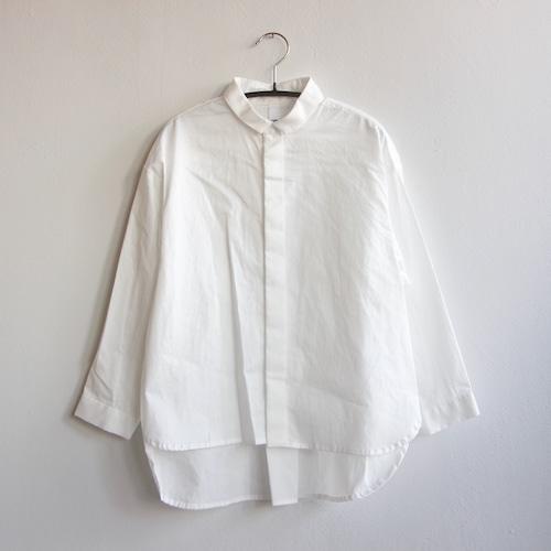 《MOUNTEN. 2021AW》80/1 washer big shirts / white / size0(145-155cm程度)