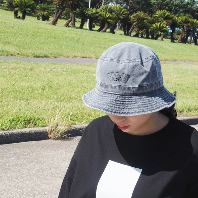 WillxWill double line Bucket Hat pigment dyed charcoal