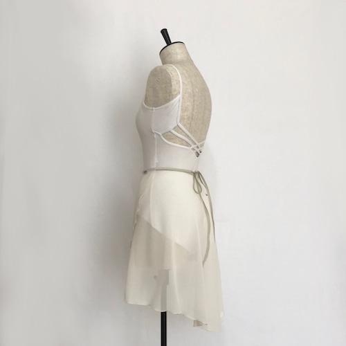 "◇""Tatiana"" Ballet Wrap Skirt - Ecru [Sheer]( エクリュ [シアー])"