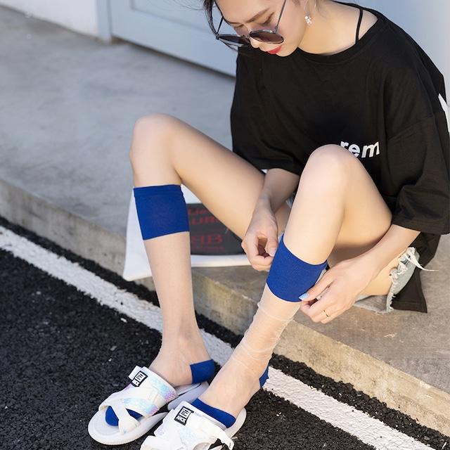【小物】無地シンプルストッキング靴下43203994