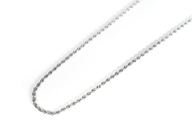 【316L twist chain necklace】 / SILVER