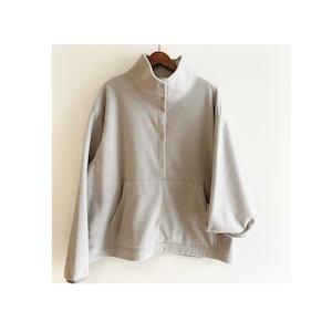 C-91284【POLARTEC WIND PRO】 Plain Fleece High Neck Pullover