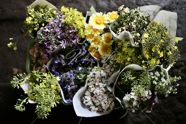 198 野菜の花の花束「食用花」