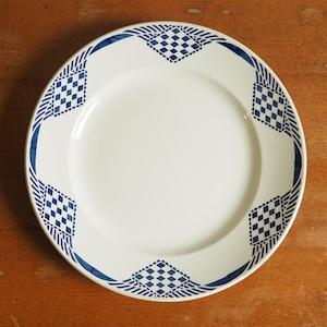 Moulin des loups & hamage の青い幾何学模様の大皿