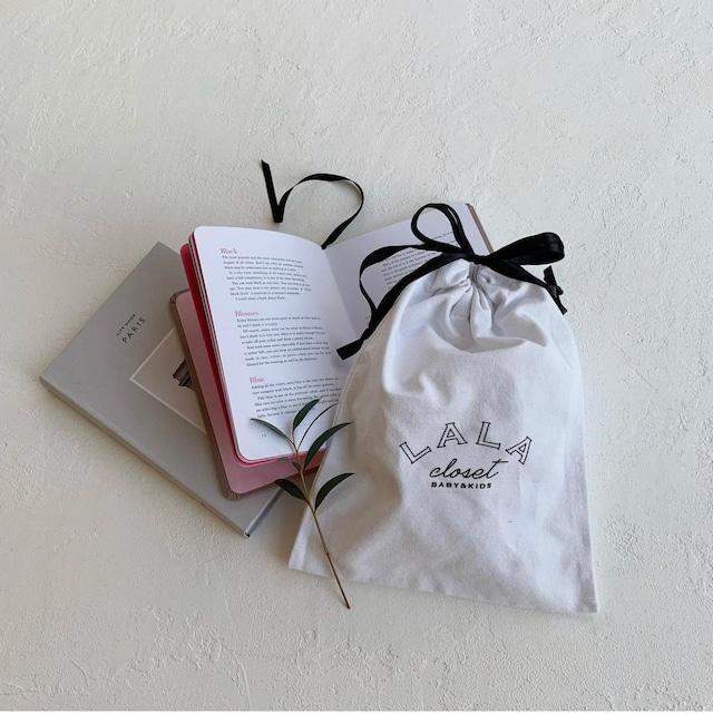 【即納】made in Lala  Drawstring pouch  (巾着/ポーチ) : LalaCloset original