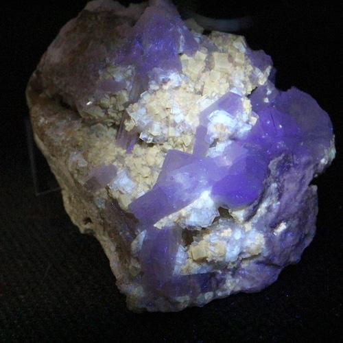 ユニーク!蛍石 + セレスタイト オハイオ産 フローライト 原石 102,3g FL168 鉱物 天然石 パワーストーン